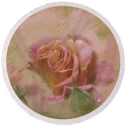 World Peace Roses With Texture Round Beach Towel