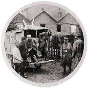 World War I: Ambulance Round Beach Towel