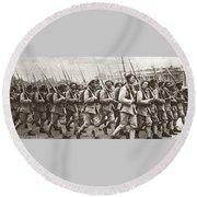 World War I Paris, C1917 Round Beach Towel