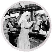 World War I: Red Cross Round Beach Towel