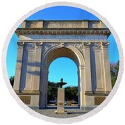 World War I Victory Arch Newport News Round Beach Towel