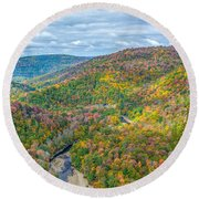 Worlds End State Park Lookout Round Beach Towel