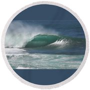 World's Most Perfect Wave . . . Round Beach Towel