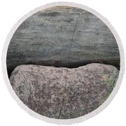 Worm Wood And Granite Round Beach Towel