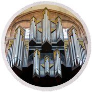 Worms Cathedral Organ Round Beach Towel