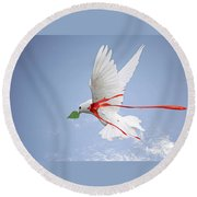 Wounded Peace 2 Round Beach Towel