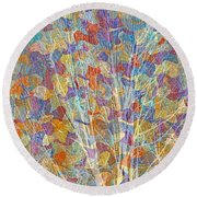Woven Branches Long Round Beach Towel