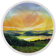 Wrapped In Light Round Beach Towel