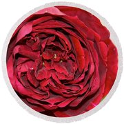 Wrapped Red Round Beach Towel