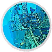 Wreck Diving Make The Discovery Round Beach Towel