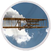 Wright Brothers First Flight Round Beach Towel