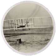 Wright Brothers - First In Flight Round Beach Towel