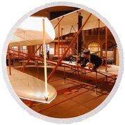 Wright Brothers Memorial Round Beach Towel