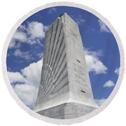 Wright Brothers Memorial Round Beach Towel