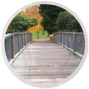 Wrights Park Bridge Round Beach Towel