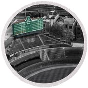 Wrigley Field Chicago Sports 04 Selective Coloring Round Beach Towel