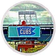Wrigley Field Chicago Cubs Round Beach Towel