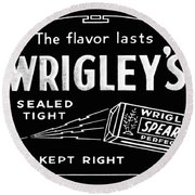 Wrigleys Spearmint Gum Round Beach Towel