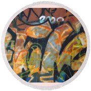 Writing On The Wall 1 Round Beach Towel