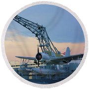 Ww II Sea Plane Round Beach Towel