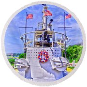 Ww II Submarine Memorial Round Beach Towel