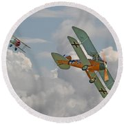 Ww1 - Fighting Colours Round Beach Towel by Pat Speirs