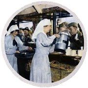 Ww1: Red Cross, 1918 Round Beach Towel