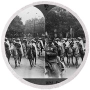 Wwi Moroccan Troops Round Beach Towel