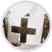 Wwi Refugees, 1914 Round Beach Towel