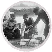 Wwi Zouaves, C1914 - To License For Professional Use Visit Granger.com Round Beach Towel by Granger