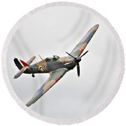 Wwii Fighter Plane The Hurricane Round Beach Towel