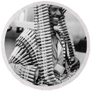 Wwii Fighters In Africa Round Beach Towel