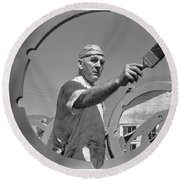 Wwii Home Front Worker Round Beach Towel