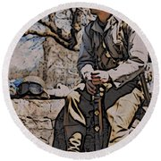 Wwii Soldier Two Round Beach Towel