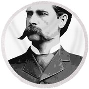 Wyatt Earp Legend Of The Old West Round Beach Towel