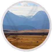 Wyoming Beauty Two Round Beach Towel