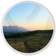 Wyoming Landscapes Round Beach Towel