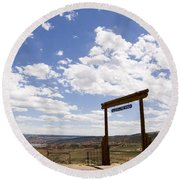 Wyoming Ranch Round Beach Towel