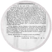 Wythe: Broadside, 1774 Round Beach Towel