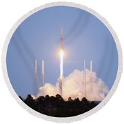 X-37b Orbital Test Vehicle Lifts Off Round Beach Towel