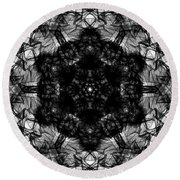 X-ray Of A Snowflake Round Beach Towel