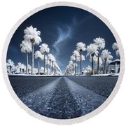 X Round Beach Towel by Sean Foster