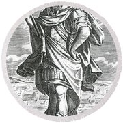 Xenophon Of Athens, Ancient Greek Round Beach Towel