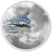 Xh558 At Altitude Round Beach Towel