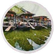 Xi Tang Town Round Beach Towel