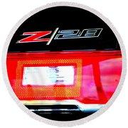 Xxl Chevrolet 2014 Z28 Tail Light Round Beach Towel