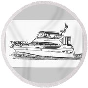 Yachting Good Times Round Beach Towel by Jack Pumphrey