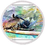 Yamaha Pelican Round Beach Towel