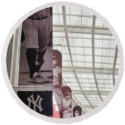 Yankee Old Timers Flags Round Beach Towel