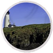 Yaquina Head Round Beach Towel